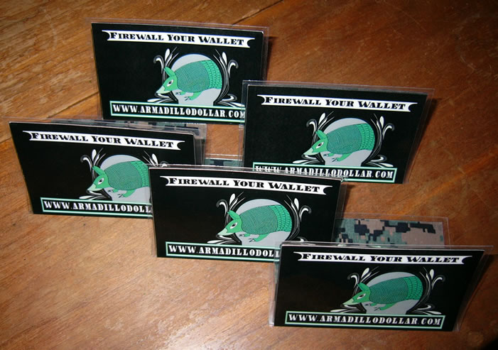 5 pack Armadillo Dollar Dilly Black Card Folders