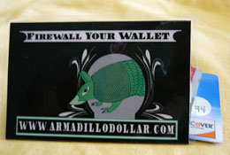 Armadillo Dollar Dilly Black Card Folder – Single